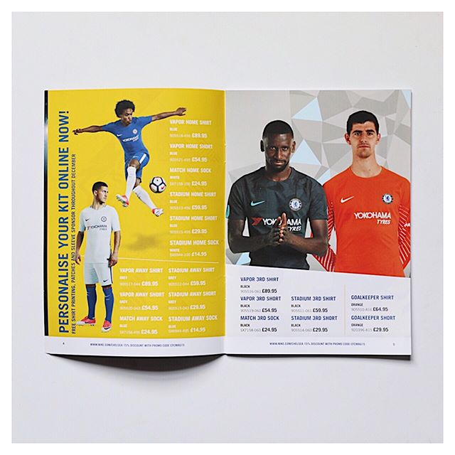 Fun catalogue project we did for @chelseafc and @nikefootball over holiday break!  #kindlerdesigns