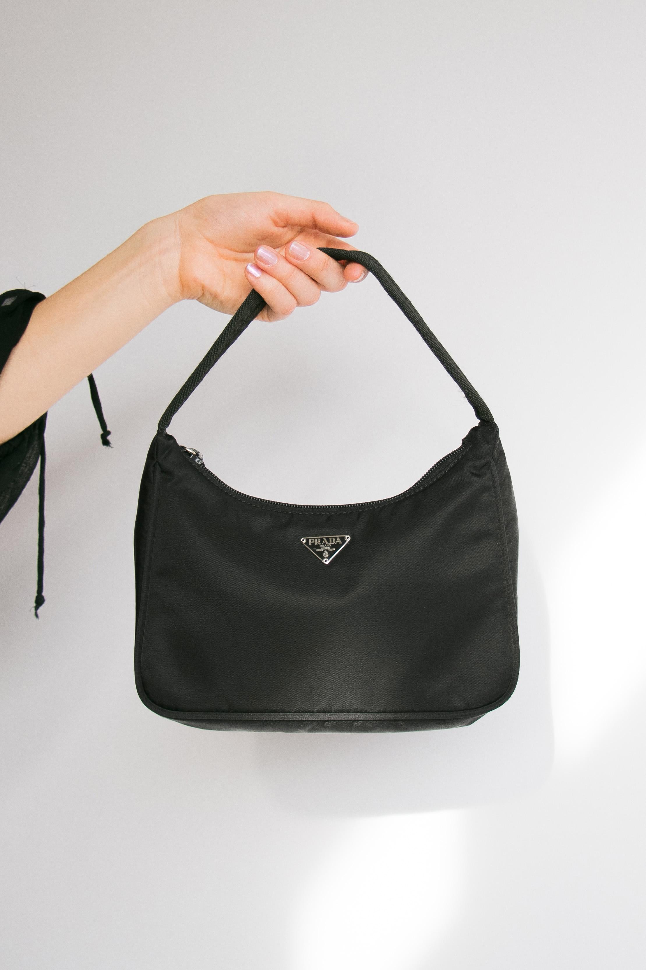 9d2976958f77 Vintage Prada Black Tessuto Sport Mini Bag — I Am That