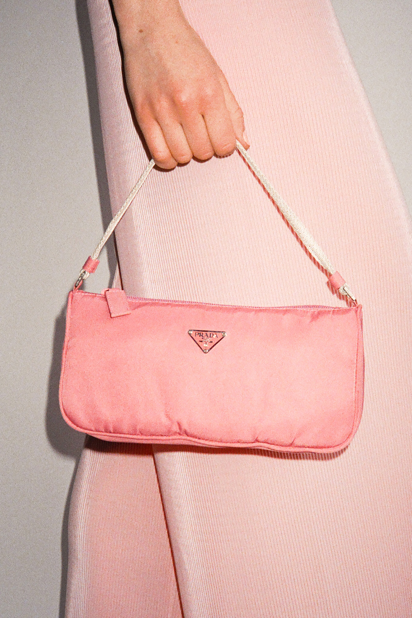 b25c0109d3b5 Vintage Prada Rose Tessuto Sport Baguette Bag — I Am That