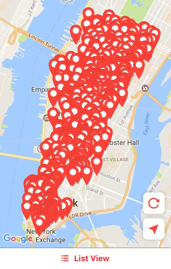 MealPal restaurants below 57th Street