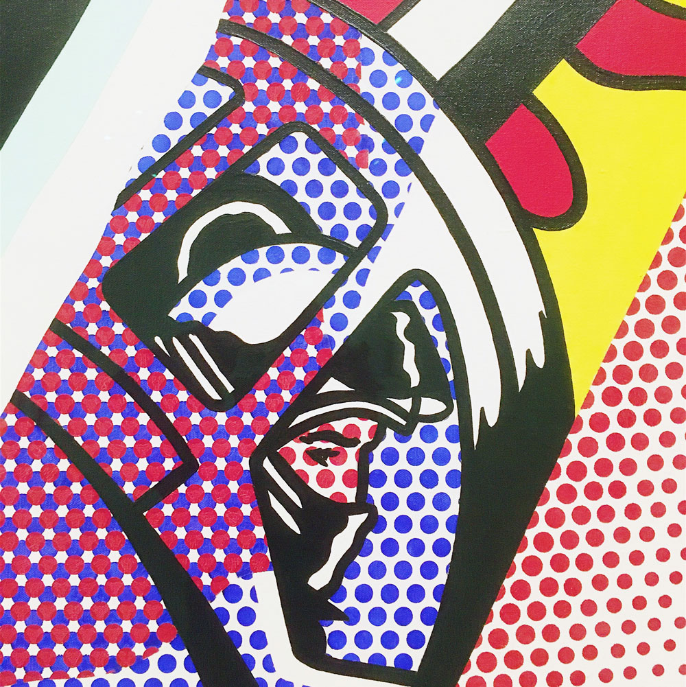 A photo I took of something by Roy Lichtenstein