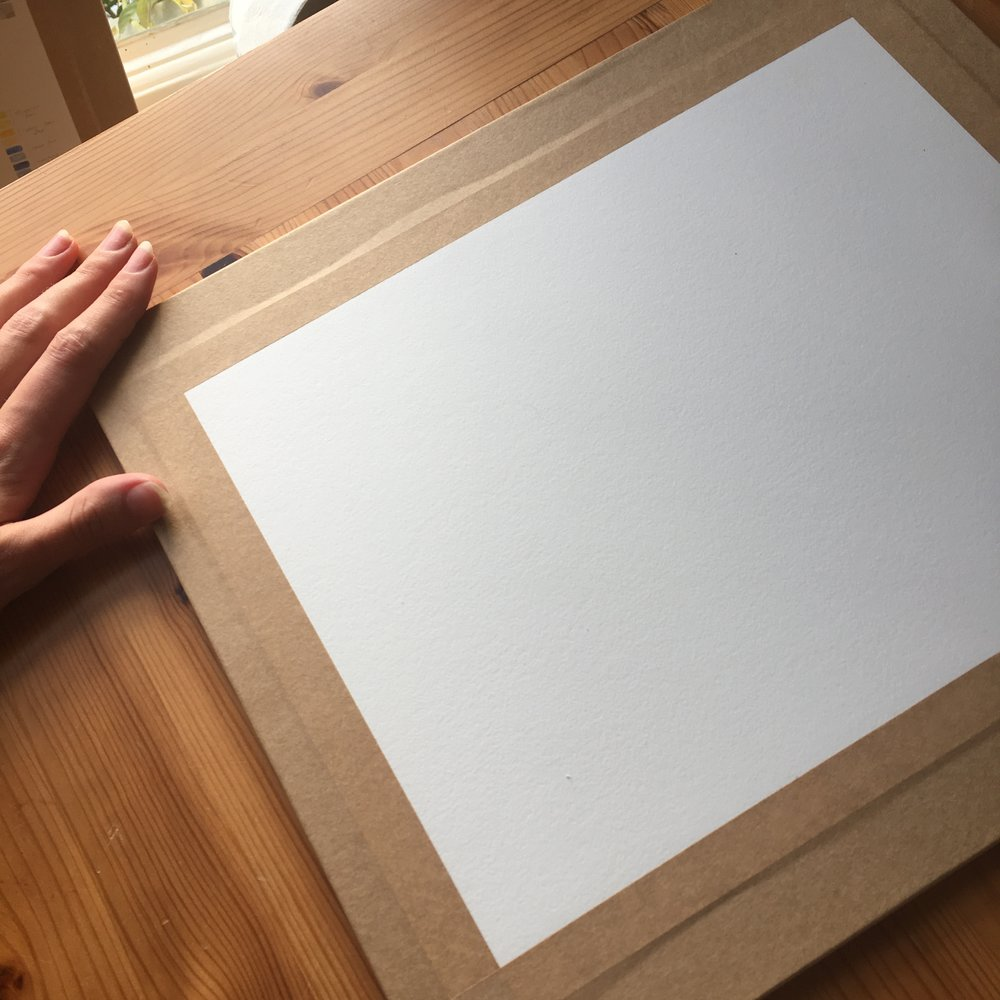 To me, there is nothing more satisfying than a perfectly stretched piece of watercolour paper. Now, the possibilities are endless!