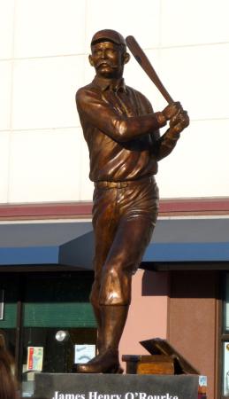 James O'Rourke located at BlueFish Stadium in Bridgeport, Ct.           Artist: Susan Clinard