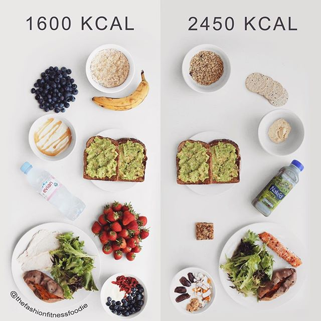 Healthy Day of Food 🥗 vs Healthy Day of Food 🥗⠀ ⠀ Bet you're sick of the C word by now aren't you. (Sorry.) This is inspired by an amezin post @danprice_639pt did last week for someone who: 1. Is looking to get a little leaner. (Yes - it is okay to want to have a goal which involves aesthetics.) 2. Feels like they're eating all the 'good' food but still not getting results.⠀ ⠀ As we know, calories are just one component of nutrition but they're something to be mindful of when it comes to weight management.⠀ ⠀ Both diets here contain 'healthy' food. Both diets contain zero 'junk' food. However one is 850 calories more than the other.⠀ ⠀ This post is not to say you need to be eating a punnet of fruit as a snack and cut out smoothies, humous, granola or flapjack lol. This post is to challenge the way you see food and the categories you place upon them.⠀ ⠀ Each and everyone one of these foods can be included in a 'healthy' diet which would help you reach your goal. And equally, in moderation, every other food NOT pictured can be included in a 'healthy' diet to help you reach your goal. Yes even chocolate. (And sugar omg.)⠀ ⠀ Look beyond 'good' and 'bad'. Look beyond the labels. Your diet should include ALL the foods you love no matter your goal. I say this all the time - moderation isn't sexy but it's bloody great.⠀ ⠀ #theFFF @thefffeed