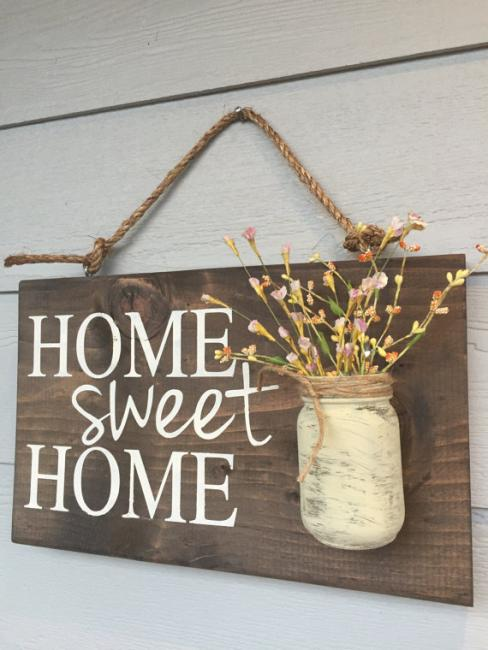 Home Sweet Home with Mason Jar Vase   $40.00  We love these vase holders. Class includes all supplies and no specials skills are needed. Bring a guest, your favorite beverage and some snacks to share.