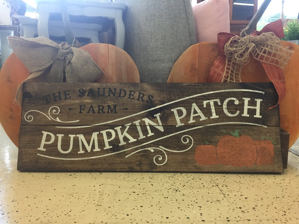 Personalized Pumpkin Patch   $45.00  Everyone loves the great pumpkin patch! This sign is perfect for your fall decorating. In the comments please write the name and year you would like, if applicable.