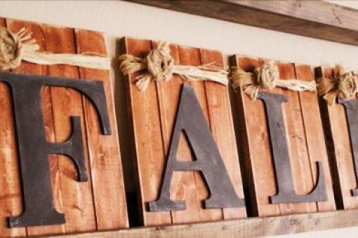 Fall Letters   $45.00  This class has always been one of our most popular. Make sure to sign up early. This class has minimal building. Bring your friends and lets get crafting