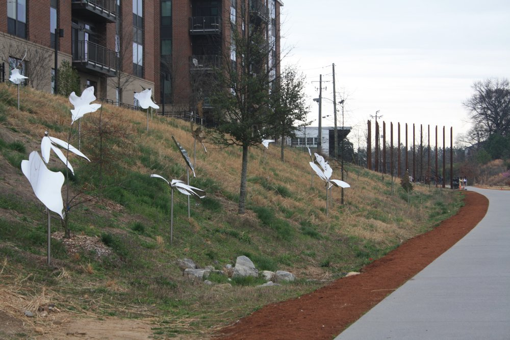 Location: Leaf sculptures along the Beltline Data: Weather or crime