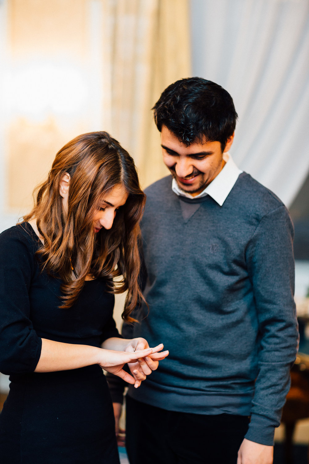 Turkish Christmas marriage proposal abroad at Hotel Imperial Vienna with concept and coordination by international proposal planner Vienna Austria