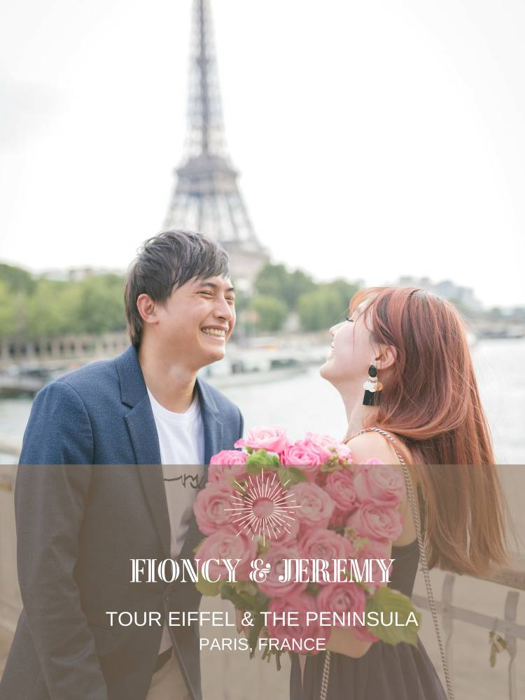 Paris marriage proposal planner for Malaysian Singaporean couples