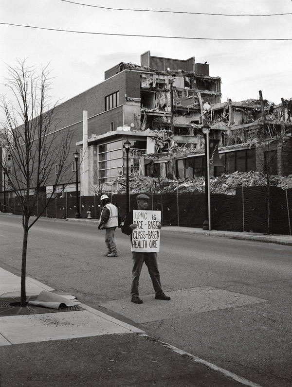 LaToya Ruby Frazier, Mr. Jim Kidd (Campaign for Braddock Hospital; Save Our Community Hospital), 2011 Courtesy the artist, Gavin Brown's Enterprise, New York/Rome, and Michel Rein, Paris/Brussels