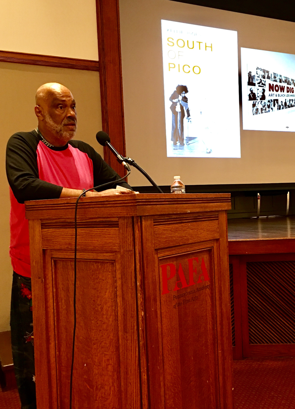 Danny Simmons, Founder of Rush Arts Philadelphia, introducing Dr. Kellie Jones