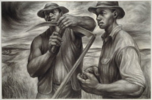 Charles White,  Harvest Talk  ,  1953  © The Charles White Archives Inc.