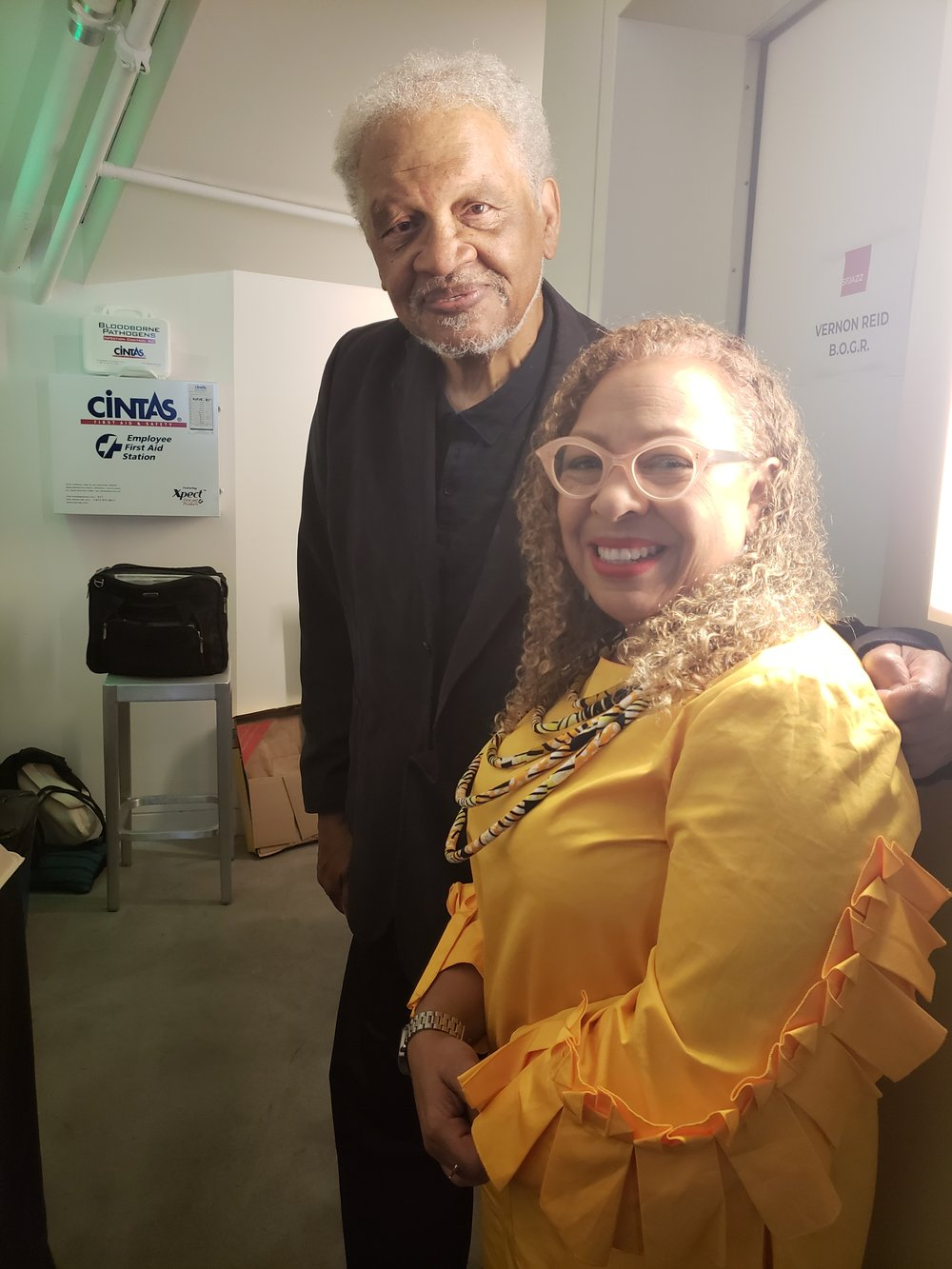 Dr. Jones and American Book Awards Founder Ishmael Reed.