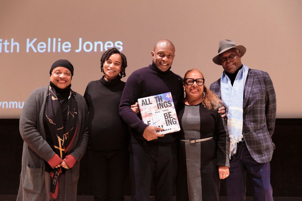 Dr. Jones with Hank Willis Thomas, his wife Rujeko Hockley (former curator at the Brooklyn Museum and current curator at the Whitney Museum) and parents Deborah Willis (artist, author, curator, and educator) and Hank Thomas Sr.  Photo Credit: Kolin N. Mendez / Kolin Mendez Photography for the Brooklyn Museum  Social Media: Facebook: Kolin Mendez Photography Twitter | Instagram: @kolinmendez Hashtag: #kolinmendezphotography website: www.kolinmendez.com