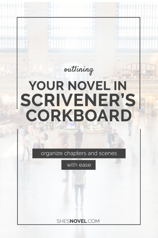 Outlining Your Novel is Scrivener's Corkboard via ShesNovel.com