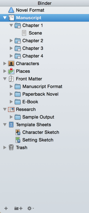 using the scrivener binder to organize your novel well storied