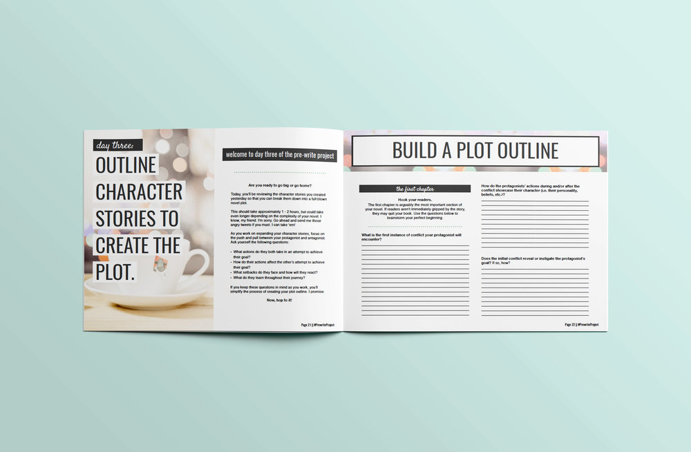 Are you ready turn your story idea into a full-length novel?  Get all the guidance you need to craft well-developed characters, plot with power and purpose, and more using this 50-page workbook and bonus world-building worksheets!