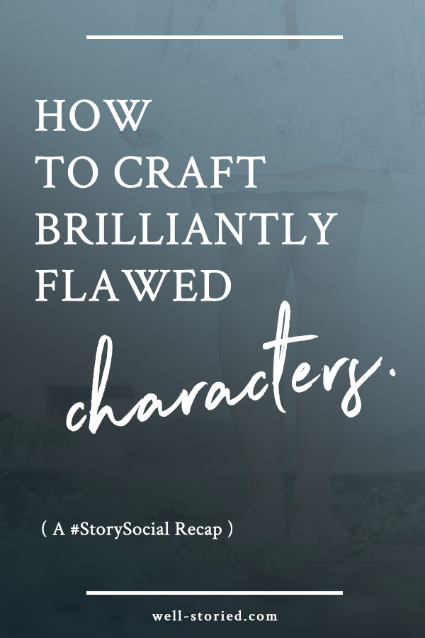It's time to make your characters real & human. By employing character flaws you not only build an emotional connection with your readers, you add heaps to your story's conflict! Learn everything you need to know in this recap of the #StorySocial Twitter chat over on the Well-Storied blog.