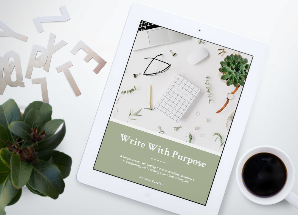 Did you love today's article?  Good news! There's more where it came from.   Write With Purpose is a free 46-page workbook that breaks down my simple system for finding focus, cultivating confidence in storytelling, and building your ideal writing life.  This system includes 5 simple steps, each of which I break down with lessons and guided questions. To learn more and grab your copy of this free resource today, click the button below!