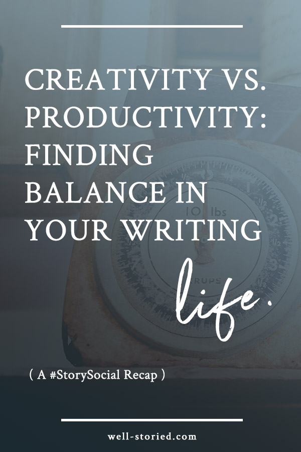 Is the pressure to write like the wind or publish ASAP smothering your creative process? It's time to learn how to balance your writing life in this recap of a recent #StorySocial chat!