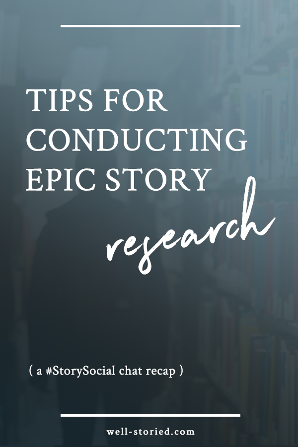 Conducting story research doesn't have to be an overwhelming or agonizing process. Learn how to complete epic story research today with tips from the dozens of authors who participated in our latest #StorySocial chat!