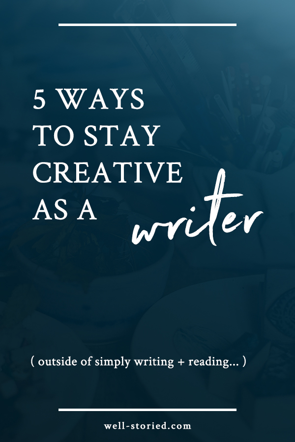 As writers, writing and reading are obviously the two most powerful ways to foster our creativity. But they aren't the *only* ways! How can we maximize our creativity outside of simply staying on top of the books we read and write? Click through to find out how!