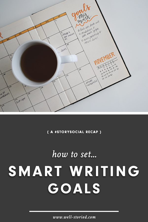 Struggling to stay motivated as you write? It's time to set smart writing goals! Learn how with this recap of #StorySocial, where dozens of authors gather to discuss out latest writing topic. Then, come join in the chat!
