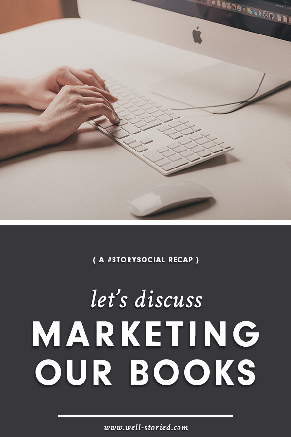Whether you're preparing to publish your debut book or struggling to make sales on a novel that's been long on the market, the tips and tricks discussed by dozens of writers in our recent #StorySocial chat may just help you up your marketing game!