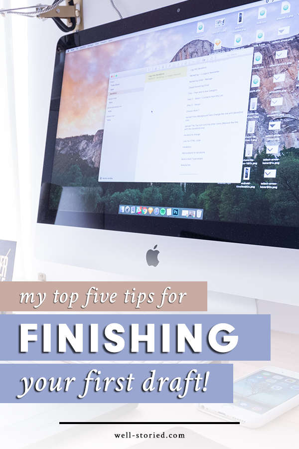 Struggling to finish the first draft of your novel? Struggle no more! Learn how to conquer your first draft today by utilizing my top 5 tips!