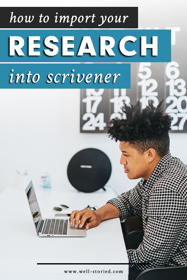 How can you import your novel research into Scrivener? Let's discuss all of your options in today's lesson!
