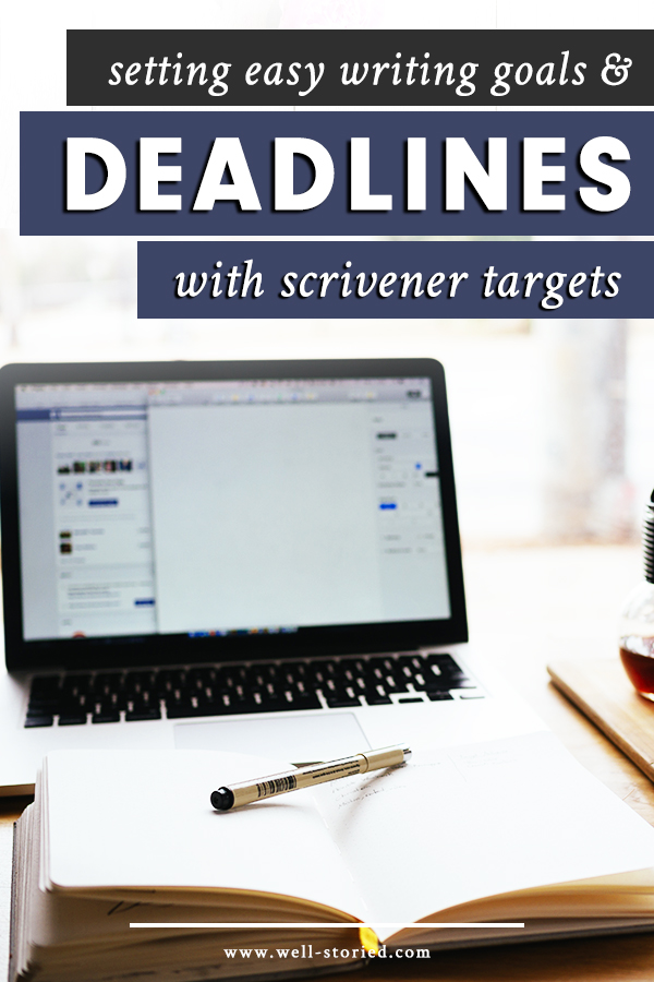 How can you hold yourself accountable with Scrivener? Easy! Learn to set goals and deadlines for your work using Project & Document Targets today!