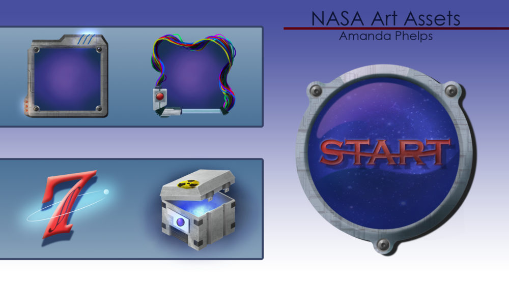 Assets for a Nasa themed poker game