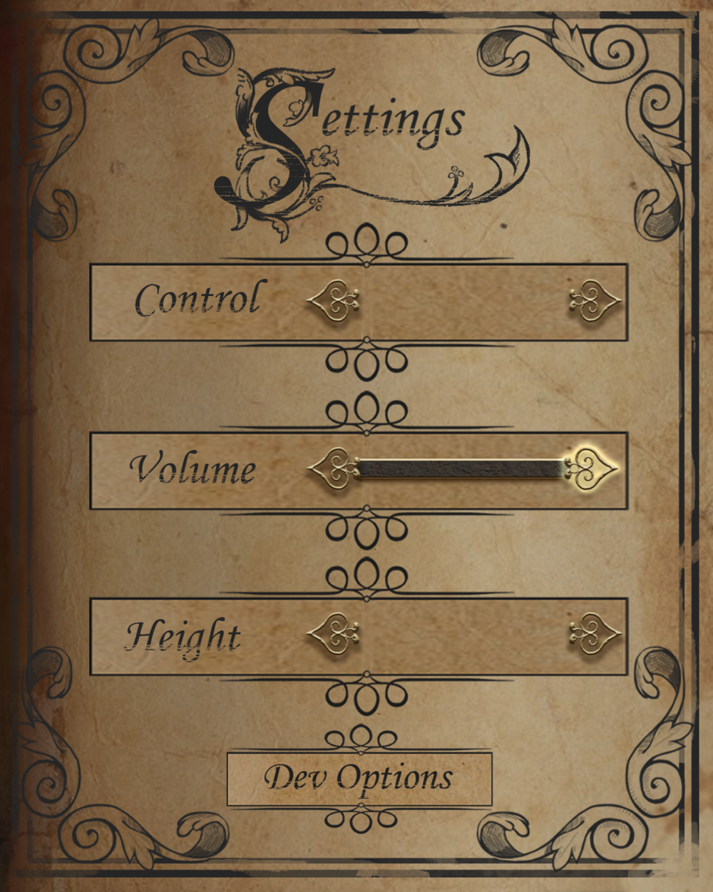 Settings page of the spell book in Mageguard: The Last Grimoire