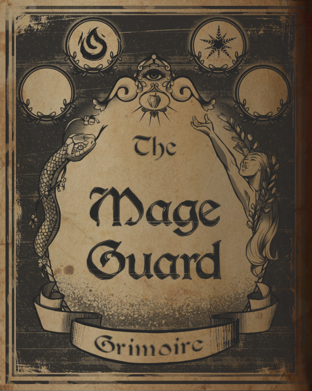 Title page of the spell book in Mageguard: The Last Grimoire