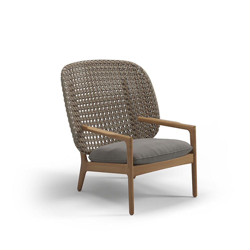 Gloster KAY High Back Lounge Chair