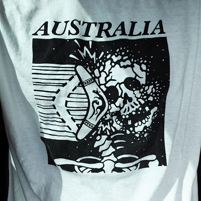 Shoutout and thanks to @timhuntart for this dope Australia shirt! 🔥🔥🙏#screenprint #apparel #everyday