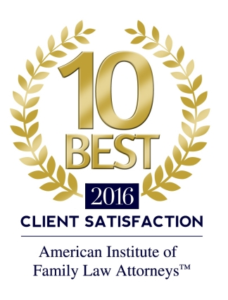 AMERICAN INSTITUTE OF FAMILY LAW ATTORNEYS 2016 CLIENT SATISFACTION AWARD 10 BEST