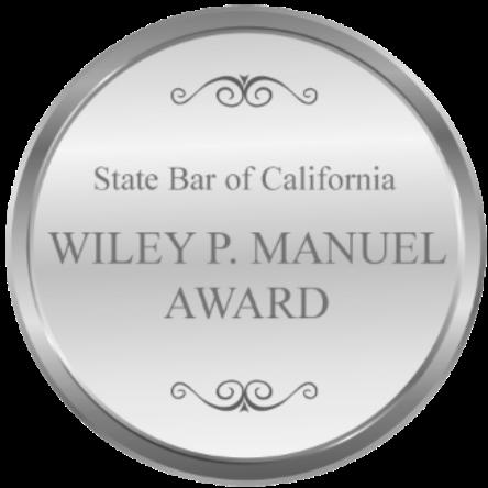 E. WILEY AWARD, STATE BAR OF CALIFORNIA (1986)
