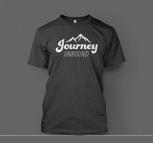 dark grey t shirt journey unbound