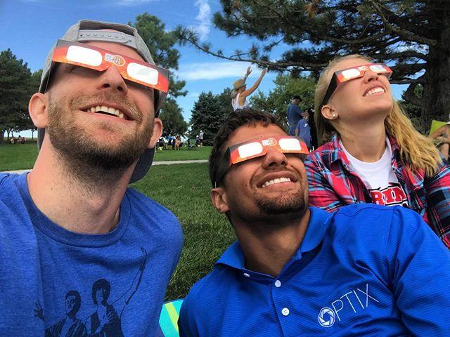 🎶Move clouds! Get out the way. Get out the way clouds! 🎶 . . . . . . . #journeyunbound #nebraska #hastings #hastingsnebraska #brickyard #brickyardpark #solareclipse #solareclipse2017 #sun #moon #outside #solareclipseglasses #totality