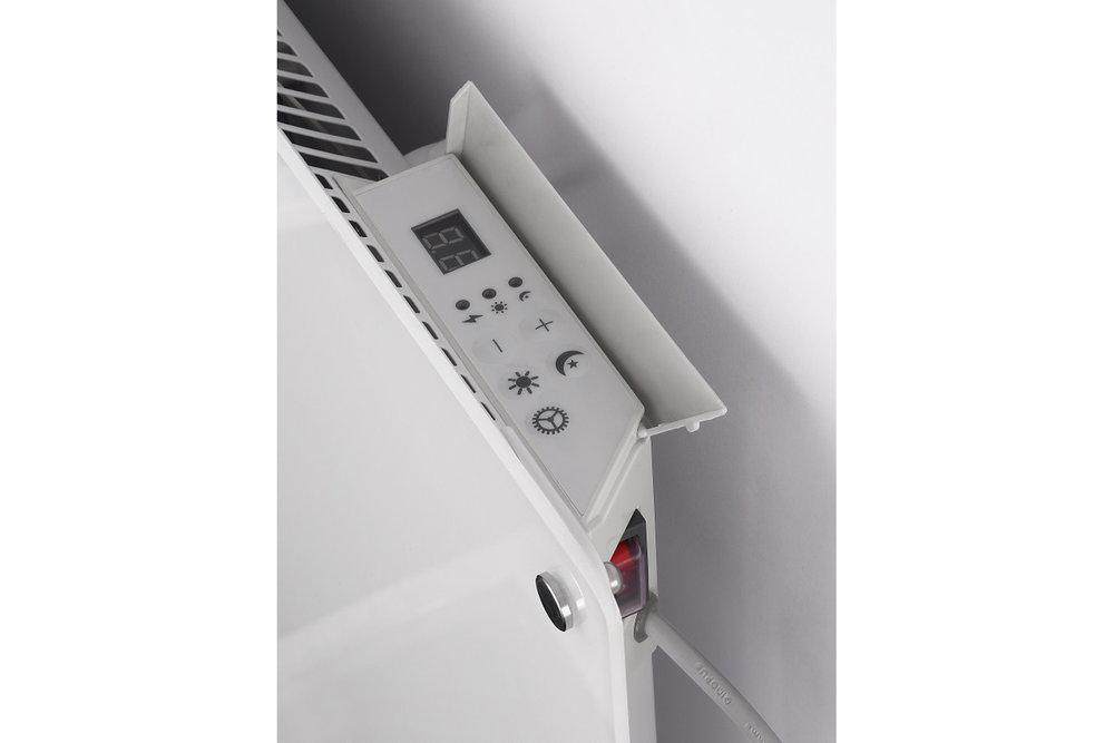 Mill MB 800 glass heater controls