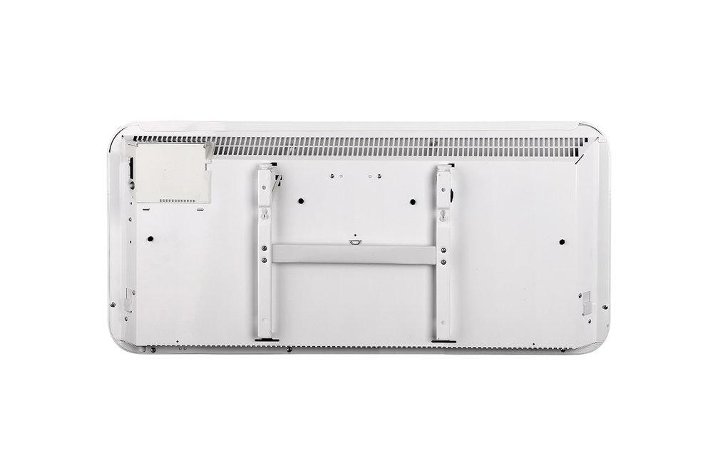 Mill IB900 steel heater back view