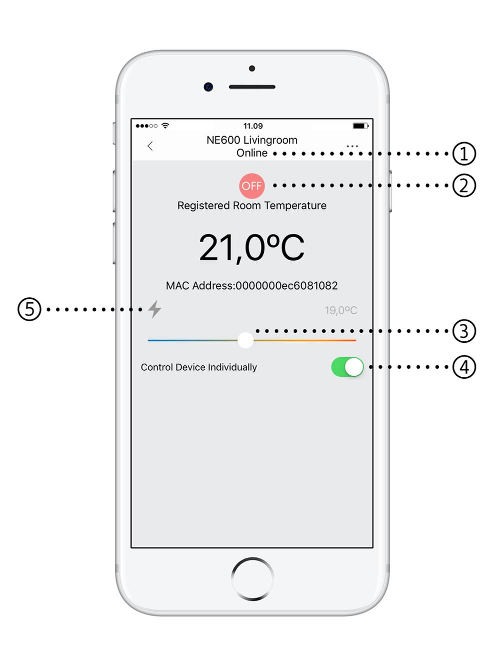 Mill app - temperature