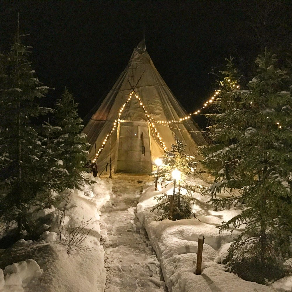 Sleep in a Teepee - Check out how we spent the night in Norway!