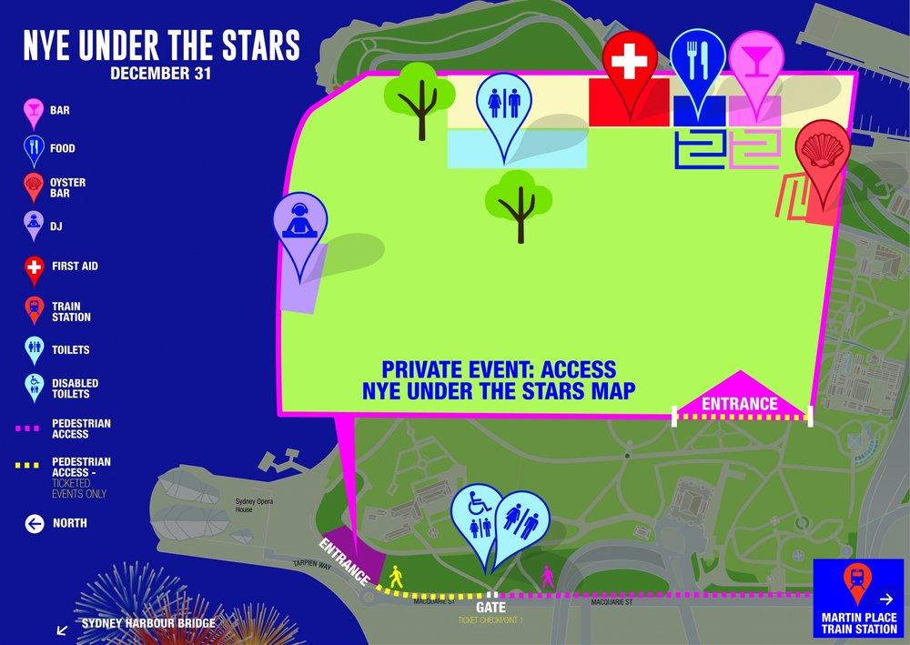 NYE Under the Stars Map - Wandering Jokas Travel Blog
