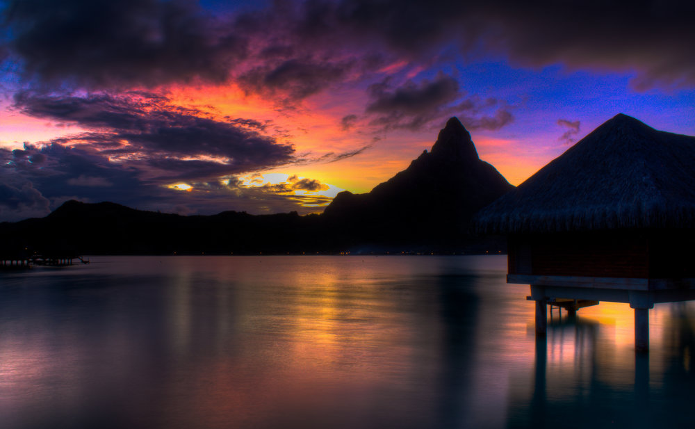 Sunset in Bora Bora -