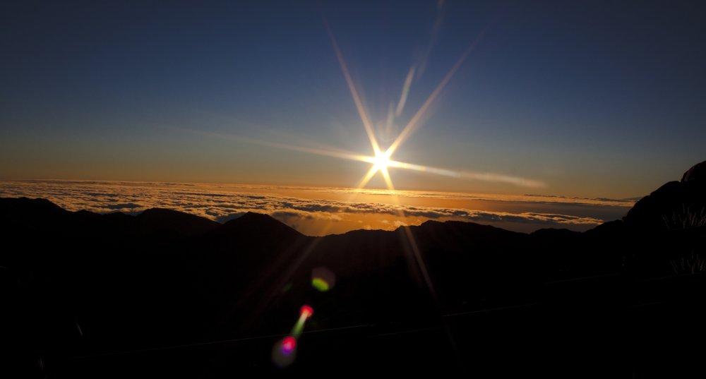 Sunrise at Haleakala Summit