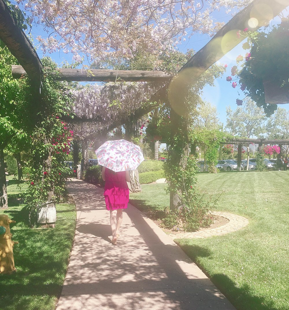 Strolling through South Coast Winery, Temecula