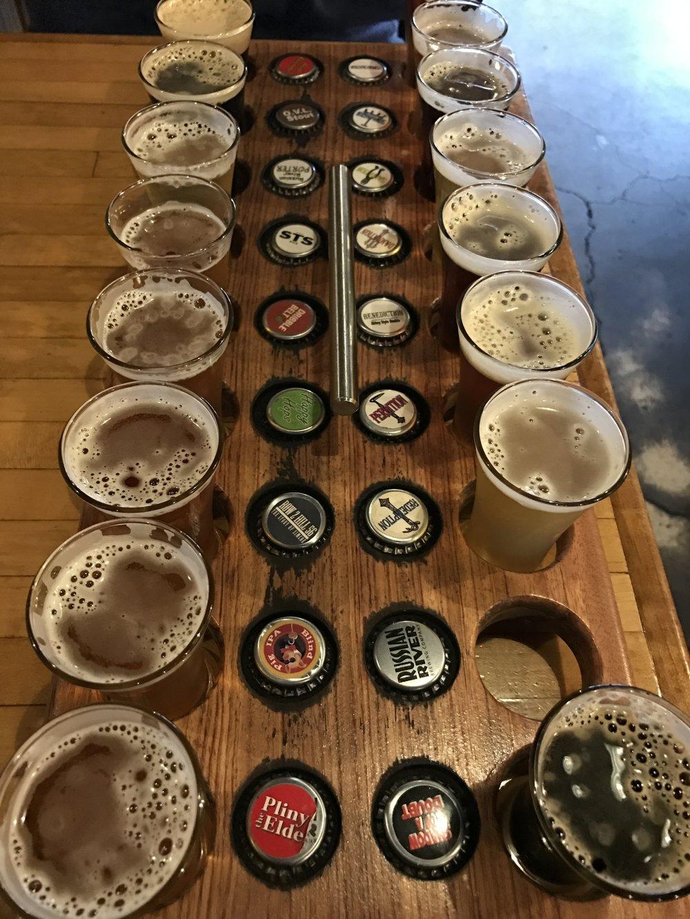 Russian River Beer Tasting Flight